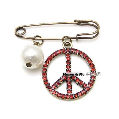 Bross Korean fashion exquisite retro peace sign brooch N8A5DA