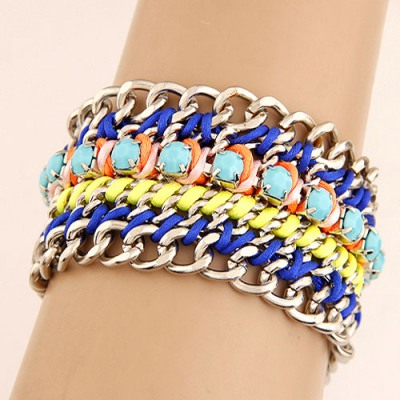 Gelang Fashion Multilayer Weaving Wide Design T666D8
