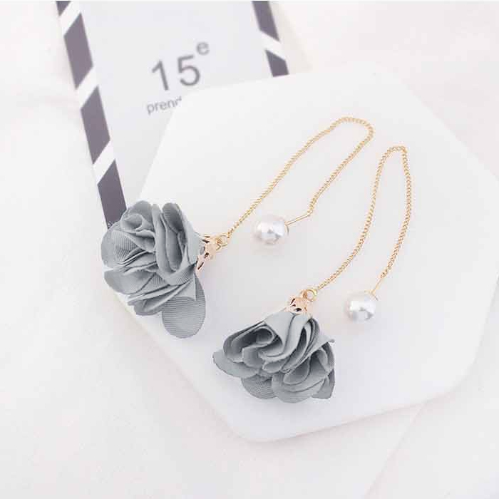 Anting Simple small fresh flowers earrings AGS009