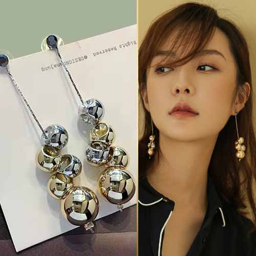 Anting Long section personality tide pendant earrings AGS073