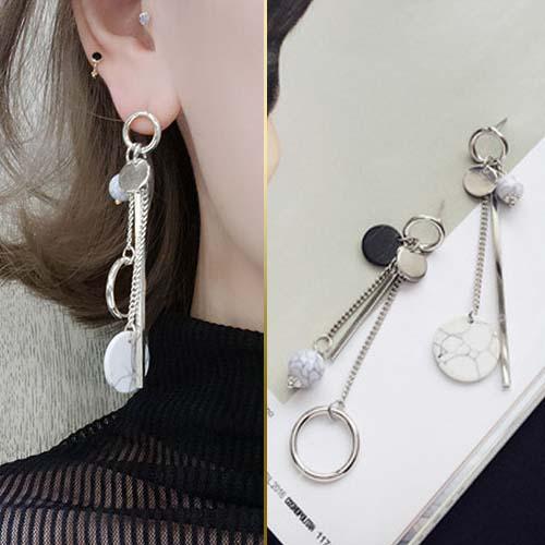 Anting Korea Marble flower pattern earrings JUL260