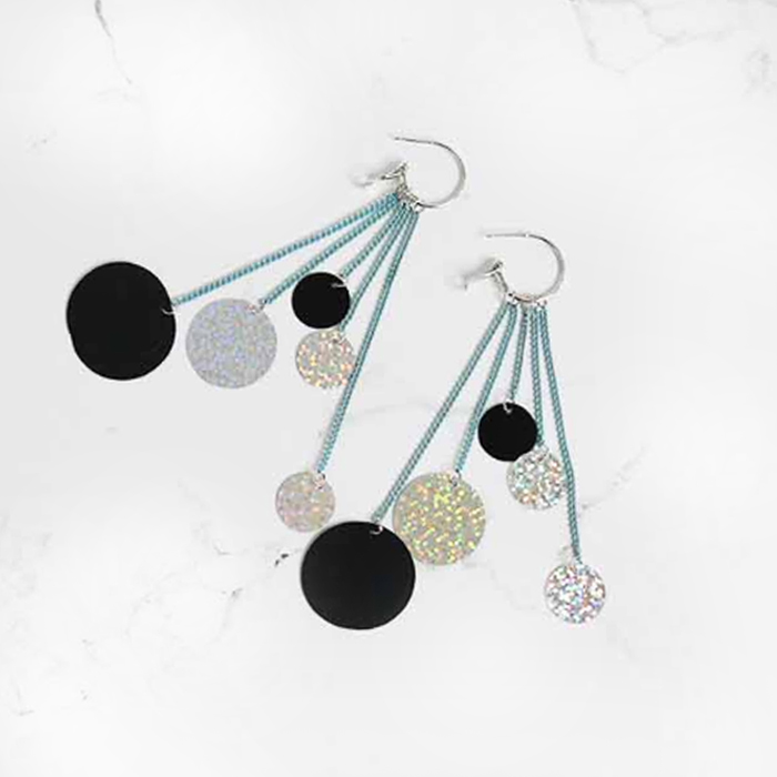 Anting tassel color nightclubs earrings AGS338