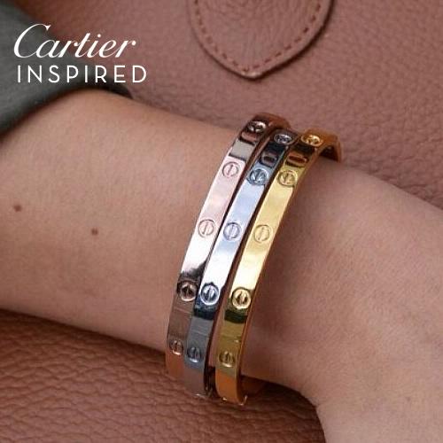 Cartier INSPIRED Bangles harga 3pcs JLR007