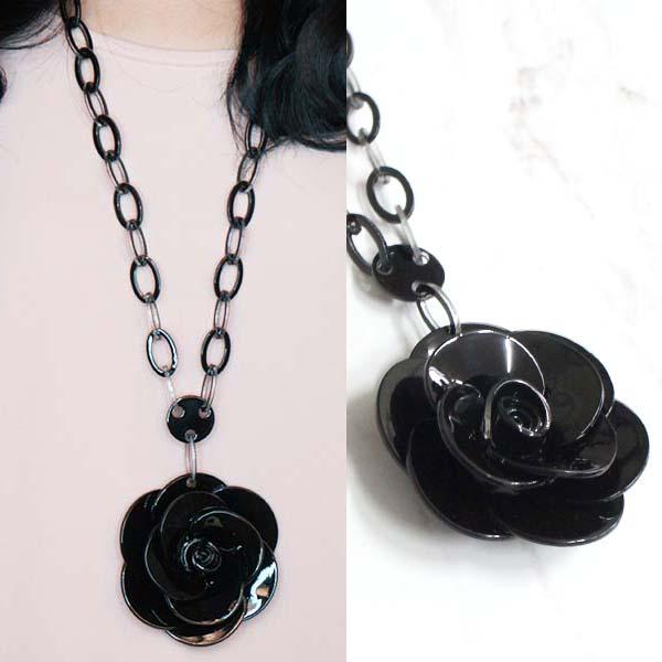 Rose Flower Long Necklaces JLR012