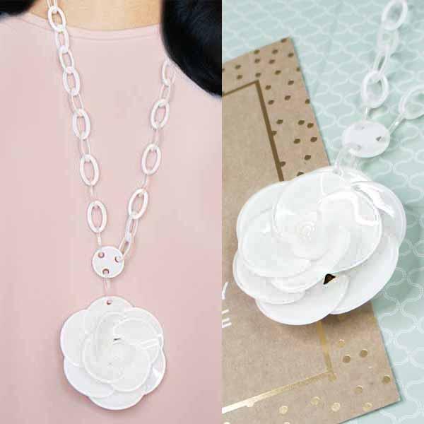 Rose Flower Long Necklaces JLR014