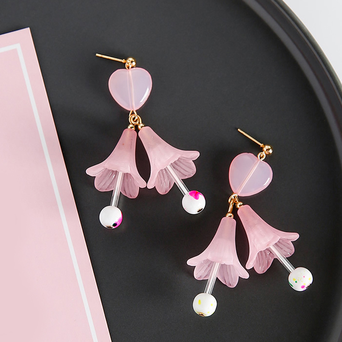 Anting Flower loving temperament earrings JUL351