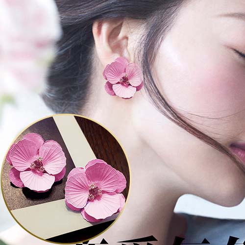 Flower Diamond Earrings JUN295