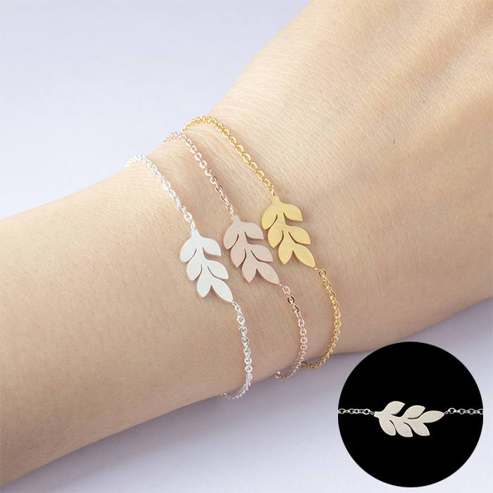 Gelang Fashion Non Allergic Bracelet titanium Bridesmaid Silver (1pcs) APR526