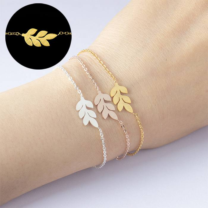 Gelang Fashion Non Allergic Bracelet titanium Bridesmaid Gold (1pcs) APR527