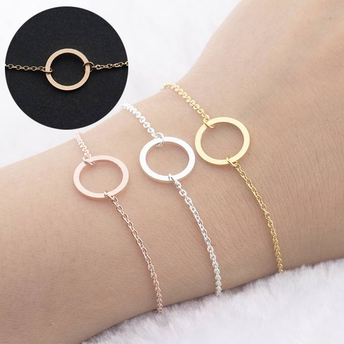Gelang Fashion Bracelet titanium Clavicle Chain Jewelry Gold-Plated Rose Gold (1pcs) APR531