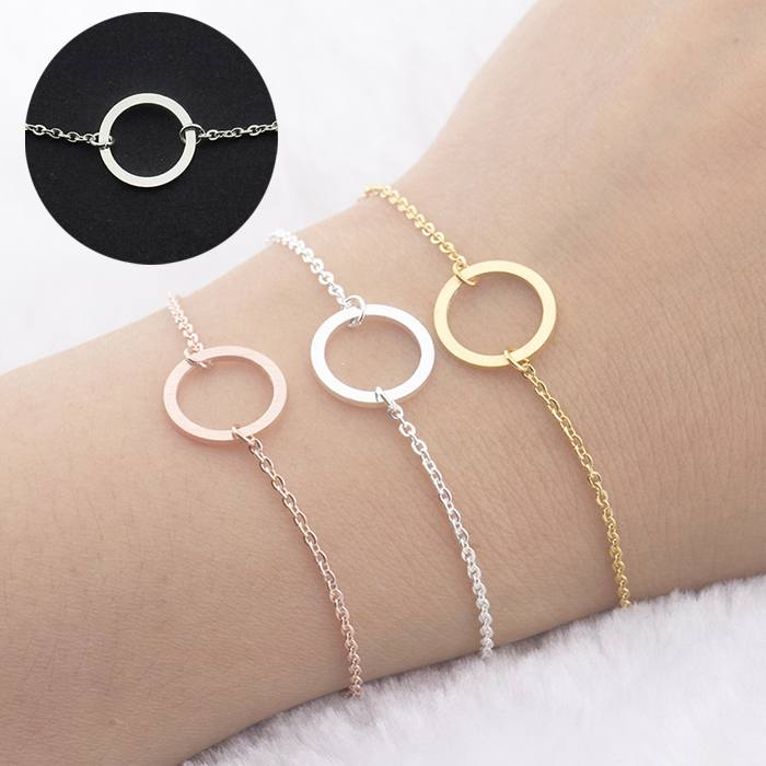 Gelang Fashion Bracelet titanium Clavicle Chain Jewelry Gold-Plated Silver (1pcs) APR532