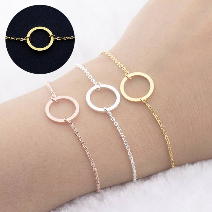 Gelang Fashion Bracelet titanium Clavicle Chain Jewelry Gold-Plated Gold (1pcs) APR533