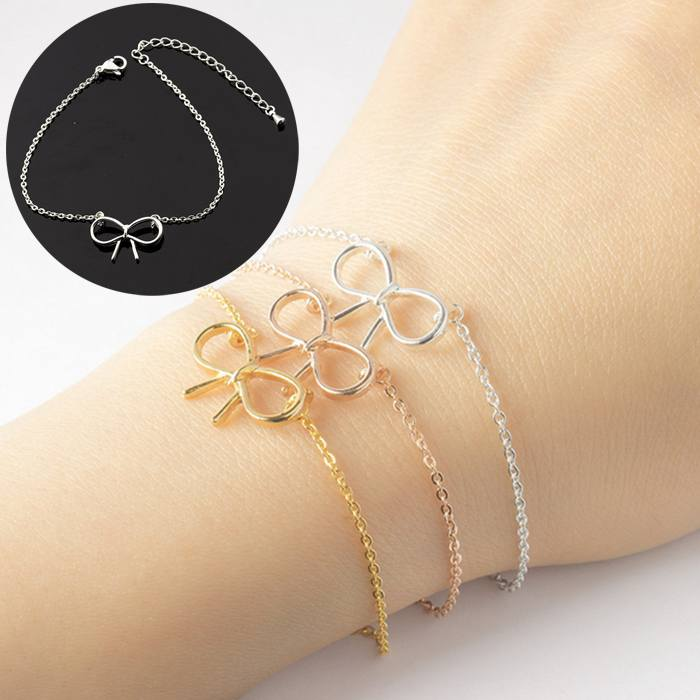 Gelang Fashion Bracelet titanium Butterfly Machine Bracelet Woman Casting Copper Pendant Silver (1pcs) APR538