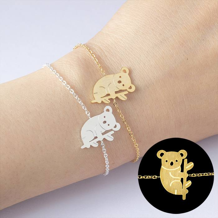 Gelang Fashion Bracelet titanium Koala Bracelet Accessories Gold (1pcs) APR543