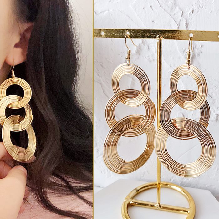 Anting Retro large circle earrings DES202