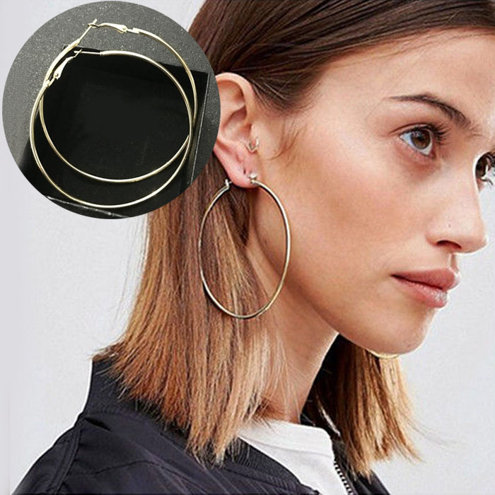Anting Minimalist round earrings DES228