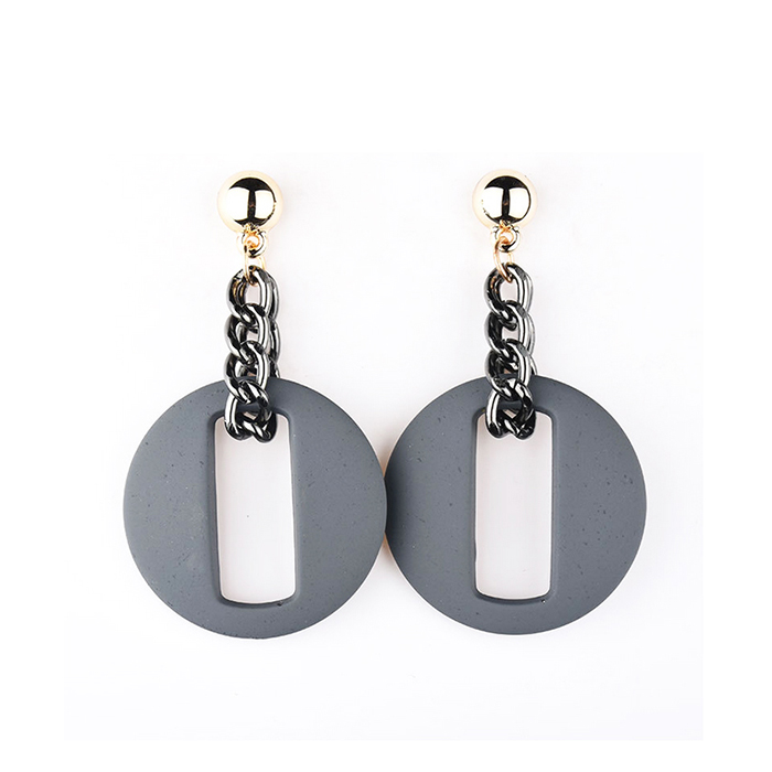 Anting Round chain earrings DES363
