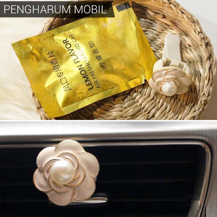 Korean Stationery Car air conditioner perfume Pearl Camellia flowers shape DES903