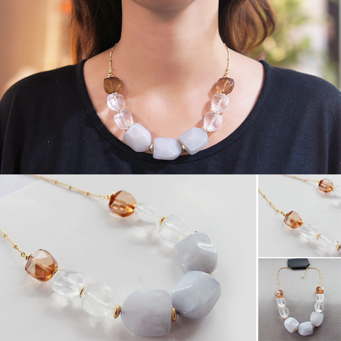 Kalung Fashion High end big popular cloud gems necklaces DES911
