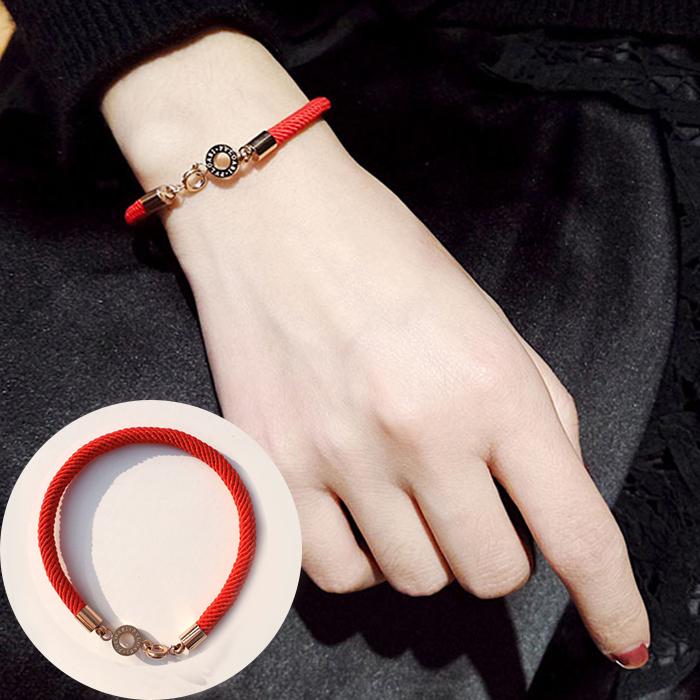 Minimalist rope bracelet titanium steel J4U030