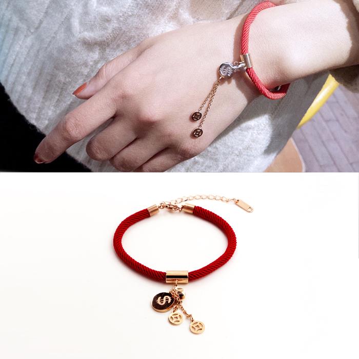 Minimalist rope bracelet titanium steel J4U033