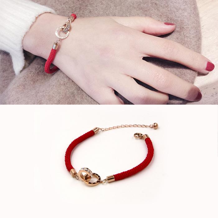 Minimalist rope bracelet titanium steel J4U034