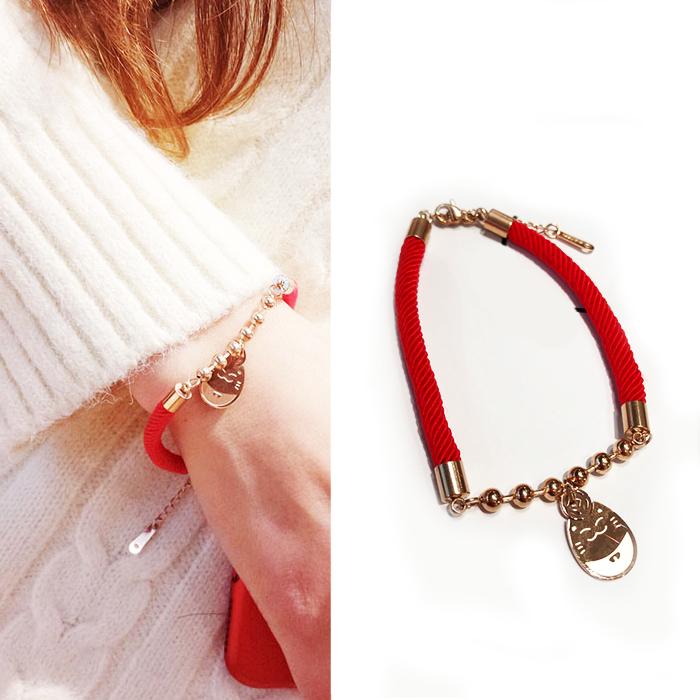 Minimalist rope bracelet titanium steel J4U035