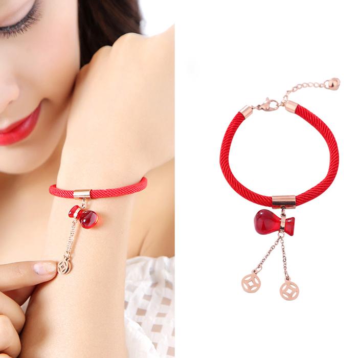 Minimalist rope bracelet titanium steel J4U037