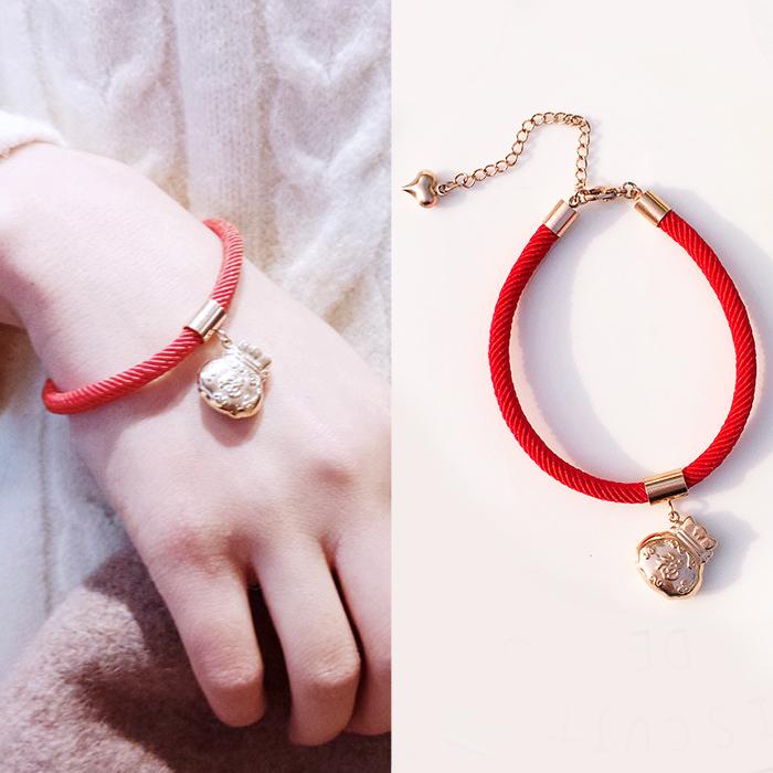 Minimalist rope bracelet titanium steel J4U039