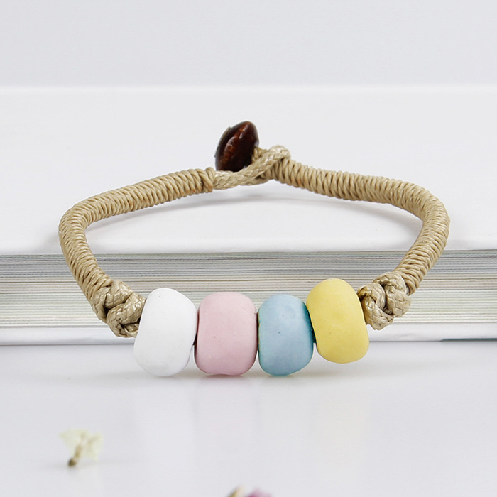 Gelang Fashion Mud ceramic handmade bracelet J4U221