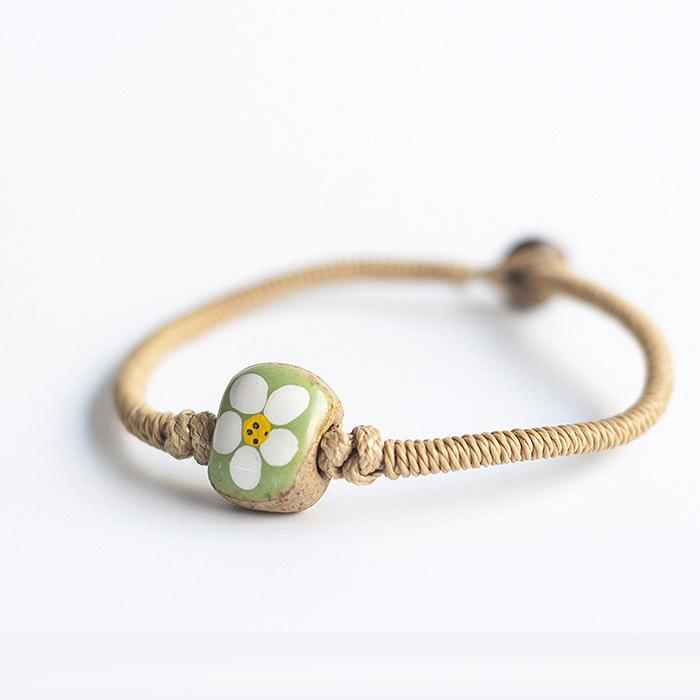 Etsy Bohemian ceramic bracelet J4U223