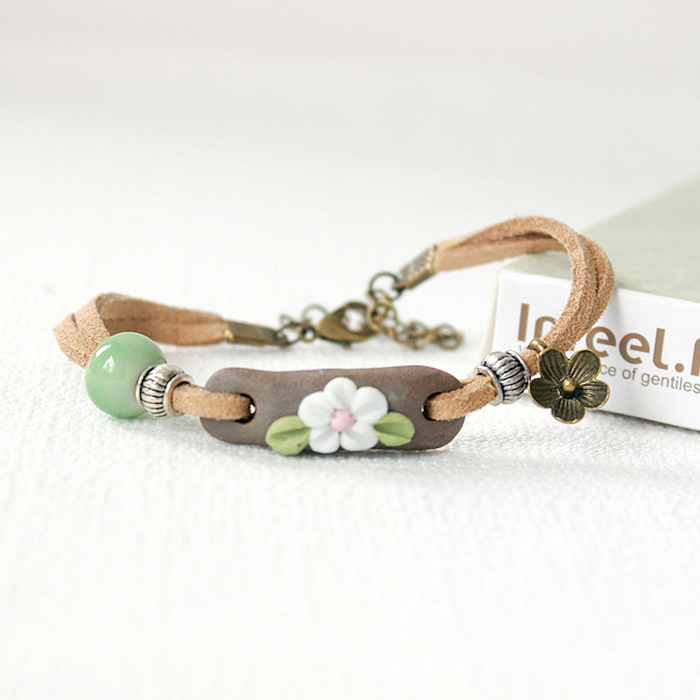 Gelang Fashion Small fresh ceramic bracelet women hand J4U232