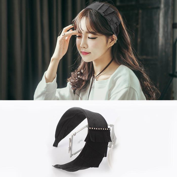 Bohemian wide split layer headband J4U445