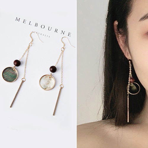 Minimalist natural shell earrings J4U888