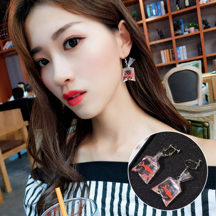 Anting Fun Squid Without Ear Pierced Ear Clip  JA0085