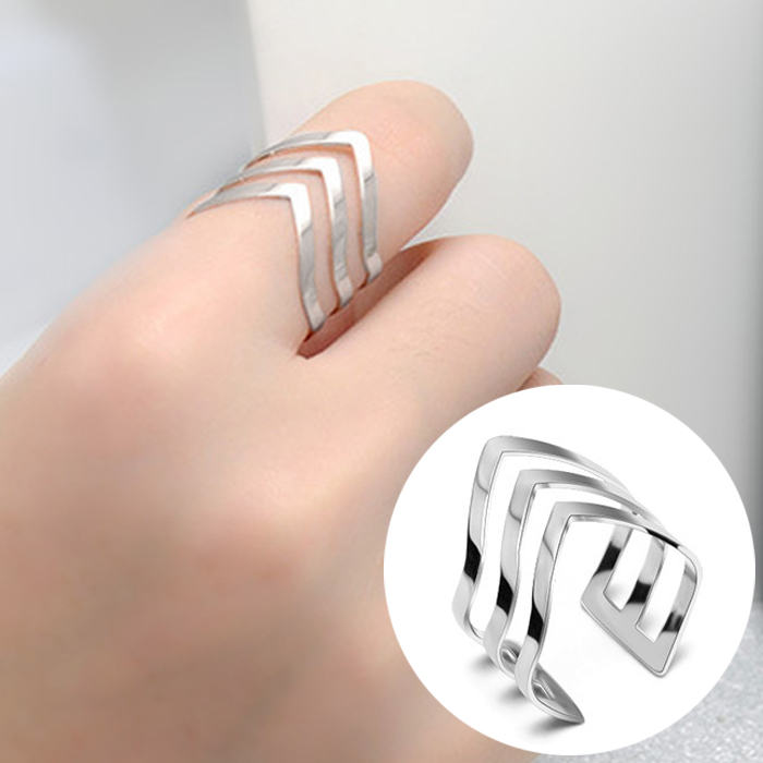 Cincin Korea Minimalist Titanium steel arrow ring JNI021