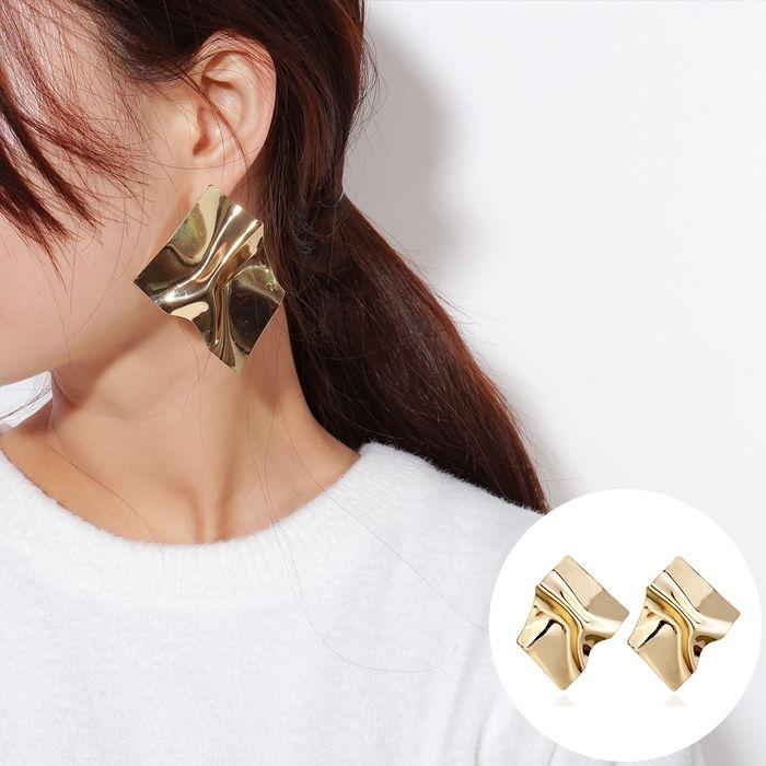 Anting Korea European and American cross-border jewelry creative personality tide earrings geometric  JUL568