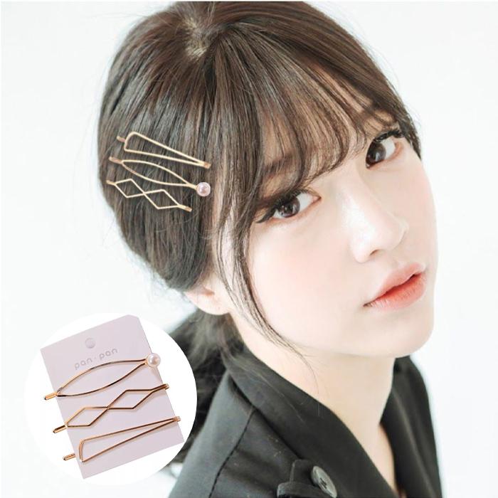 Jepitan & Sirkam Side clip Korean metal pearl hairpin combination  M4Y064