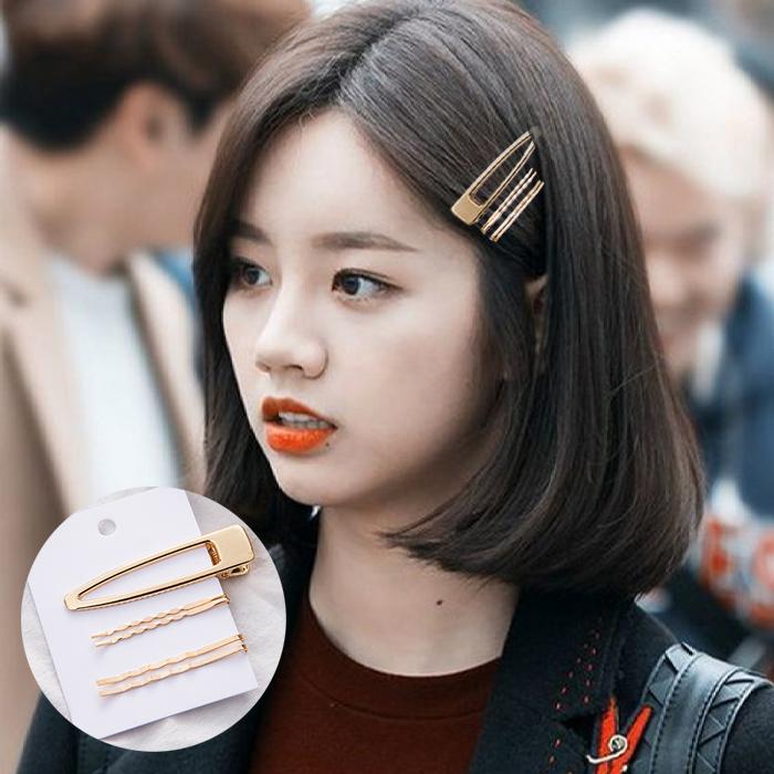 Jepitan & Sirkam Side clip Korean metal pearl hairpin combination  M4Y067
