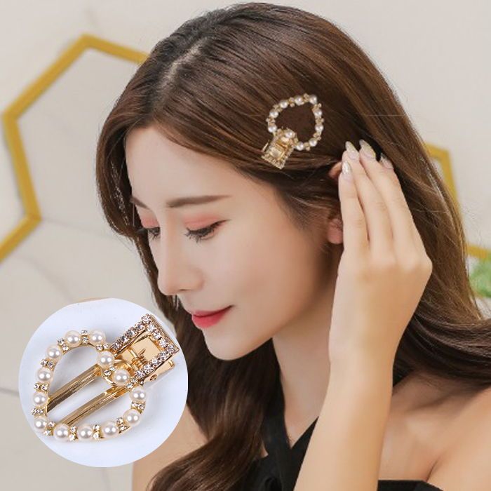Jepitan & Sirkam Japan and South Korea in the net red pearl hairpin set geometry  M4Y093