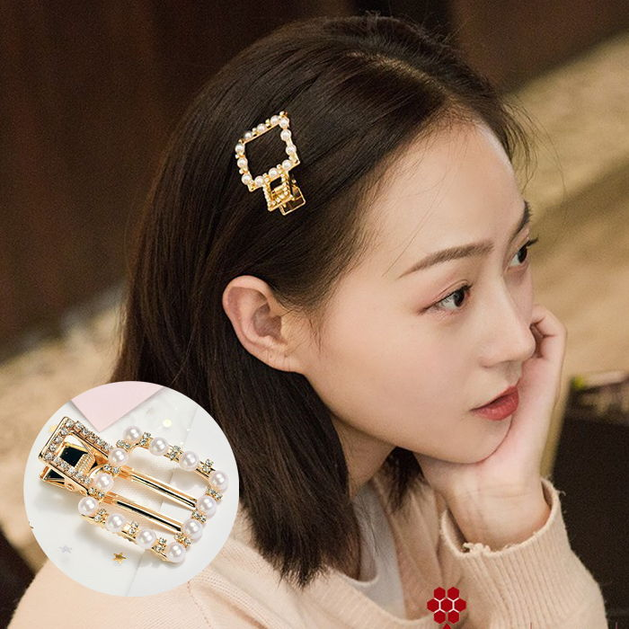 Jepitan & Sirkam Japan and South Korea in the net red pearl hairpin set geometry  M4Y094