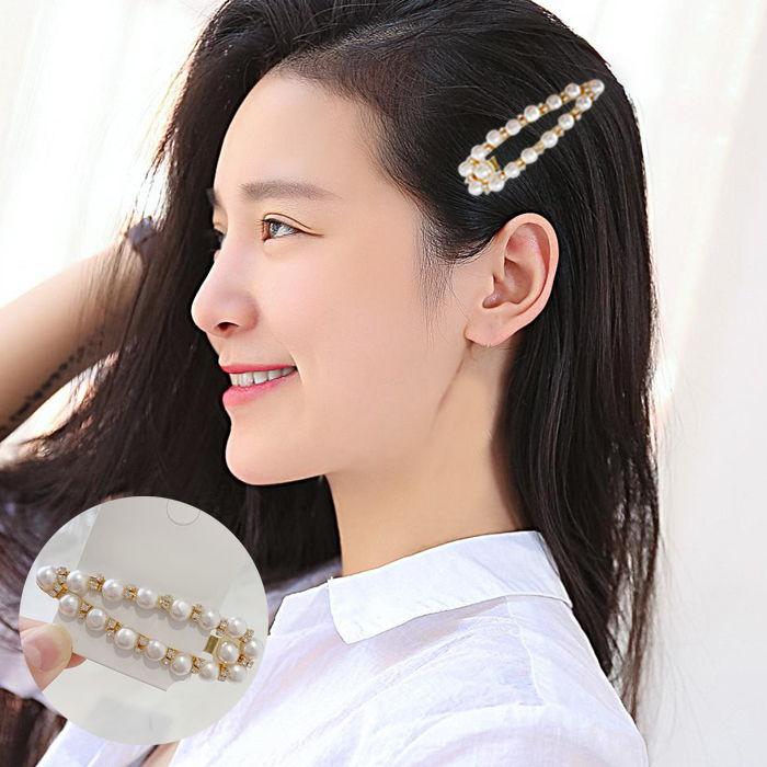 Jepitan & Sirkam Korea temperament rhinestone pearl geometry  M4Y101