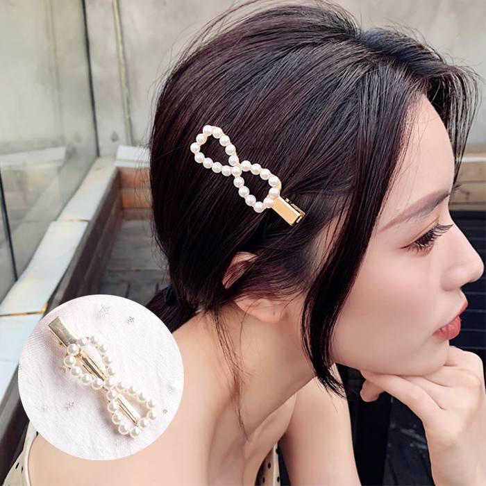 Jepitan & Sirkam Korea sweet ins flower pearl hairpin bangs M4Y103
