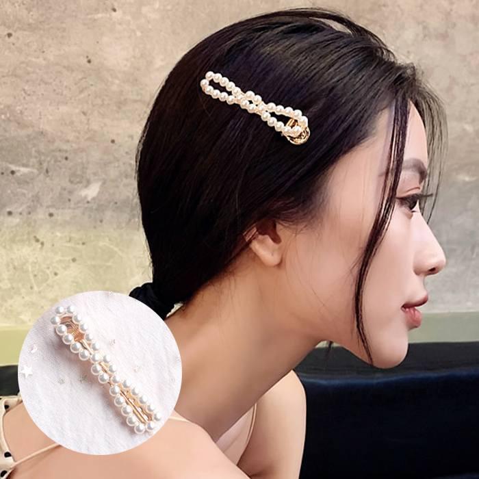 Jepitan & Sirkam Korea sweet ins flower pearl hairpin bangs M4Y104