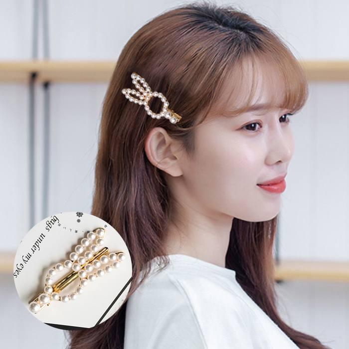 Jepitan & Sirkam Korea sweet ins flower pearl hairpin bangs M4Y106