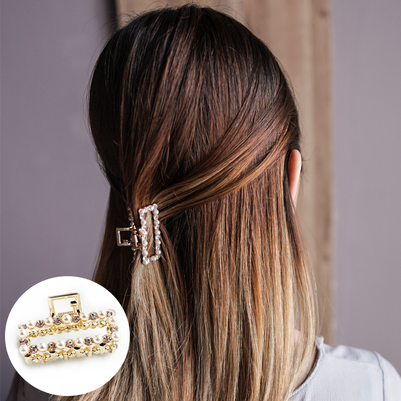 Jepitan & Sirkam Korean pearl hairpin small catch ponytail  M4Y110