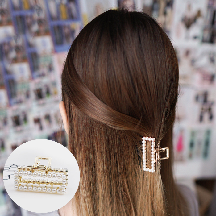 Jepitan & Sirkam Korean pearl hairpin small catch ponytail  M4Y111