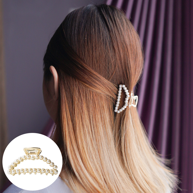 Jepitan & Sirkam Korean pearl hairpin small catch ponytail  M4Y112