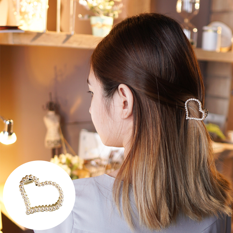 Jepitan & Sirkam Korean pearl hairpin small catch ponytail  M4Y113