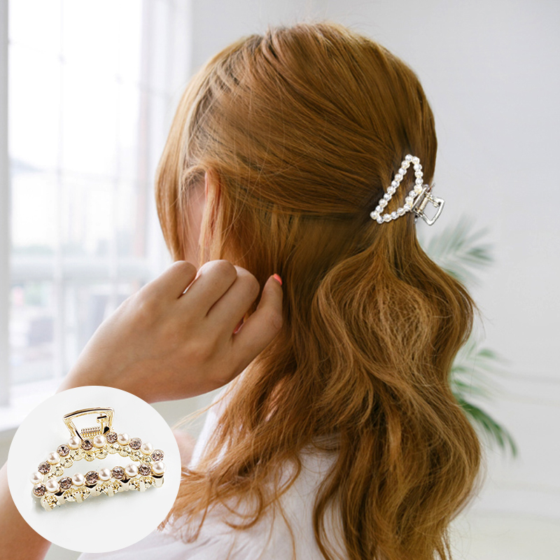 Jepitan & Sirkam Korean pearl hairpin small catch ponytail  M4Y114
